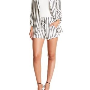 NWT Love, Fire Lace Up Stripe Shorts
